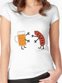 Beer & Bratwurst - Funny Friendly Foods Women's Fitted Scoop T-Shirt