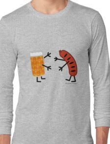 Beer & Bratwurst - Funny Friendly Foods Long Sleeve T-Shirt