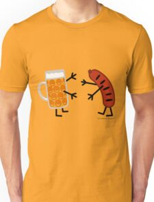 Beer & Bratwurst - Funny Friendly Foods Unisex T-Shirt