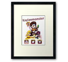Kayla_social icons Framed Print