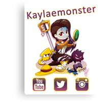 Kayla_social icons Canvas Print