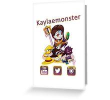 Kayla_social icons Greeting Card