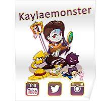 Kayla_social icons Poster