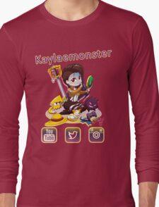 Kayla_social icons Long Sleeve T-Shirt