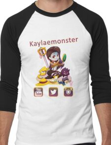 Kayla_social icons Men's Baseball ¾ T-Shirt