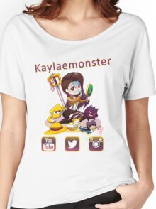 Kayla_social icons Women's Relaxed Fit T-Shirt