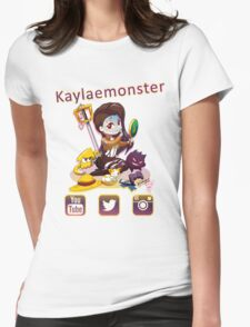 Kayla_social icons Womens Fitted T-Shirt