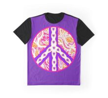 Circle of Peace Tangle With Colours Var 7 Graphic T-Shirt