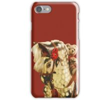 Nursery Toys: Teddy Bear Rides Rocking Horse iPhone Case/Skin