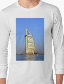 Photography of Burj al Arab hotel from Dubai. United Arab Emirates. Long Sleeve T-Shirt