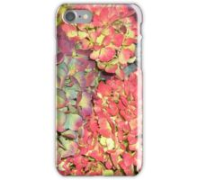 Autumn Hydrangea flowers, in greens, russets and purples. iPhone Case/Skin