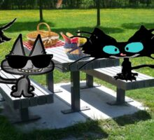 Cats At A PicNic Sticker