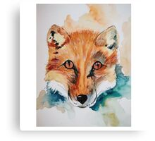 what did the fox say Canvas Print