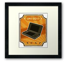 Retro Nintendo 3DS Framed Print