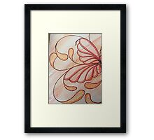 Sues Amber Butterfly Lily Framed Print