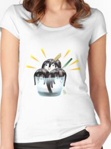 Penguin IceCream Women's Fitted Scoop T-Shirt