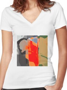 angry Women's Fitted V-Neck T-Shirt