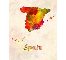 Spain in watercolor Photographic Print