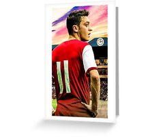 Vintage Mesut Ozil Greeting Card