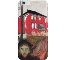 Red Virginia Creeper - Edvard Munch iPhone Case/Skin