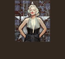 Marilyn Monroe, Old Hollywood, fine art, portrait, brown shades Womens Fitted T-Shirt