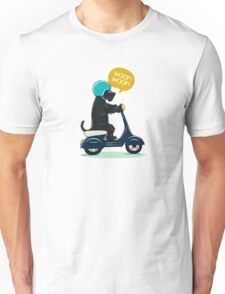 Scottish terrier riding a scooter Unisex T-Shirt