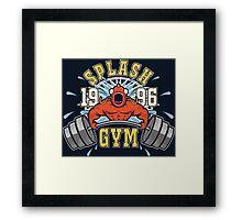 Splash Gym Framed Print