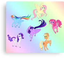 Mane 6 - All Together Now Canvas Print