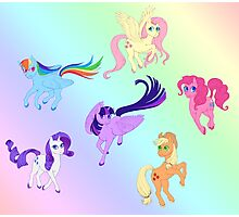 Mane 6 - All Together Now Photographic Print