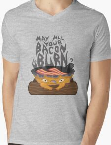 May All Your Bacon Burn Mens V-Neck T-Shirt