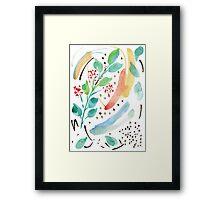 Watercolor Spring Garden Framed Print