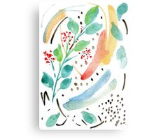 Watercolor Spring Garden Canvas Print