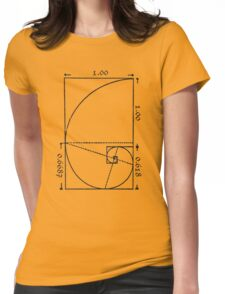 The Golden Spiral Womens Fitted T-Shirt