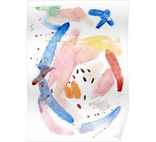 Spring Swallow, Abstract Painting Poster