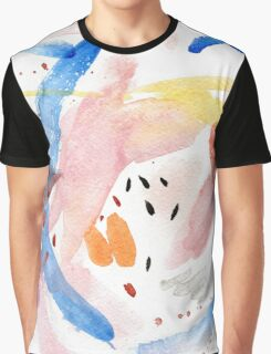 Spring Swallow, Abstract Painting Graphic T-Shirt