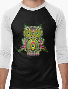 Owl Psychedelic Pop Art Men's Baseball ¾ T-Shirt