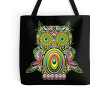 Owl Psychedelic Pop Art Tote Bag