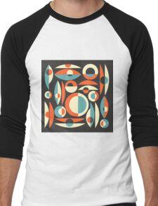 Retro Eames Era  Pisces Men's Baseball ¾ T-Shirt