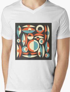 Retro Eames Era  Pisces Mens V-Neck T-Shirt
