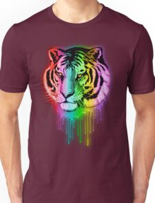 Tiger Neon Dripping Rainbow Colors Unisex T-Shirt
