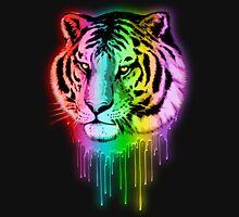 Tiger Neon Dripping Rainbow Colors Unisex T-Shirt