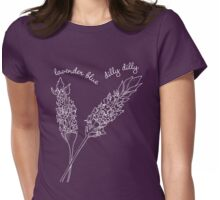 Innocence Lost to Lavender. White version Womens Fitted T-Shirt