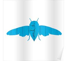 Insect Flying Texture Outline  Poster