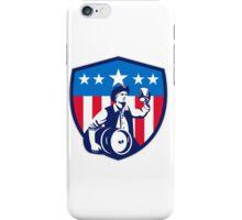 American Patriot Beer Keg Flag Crest Retro iPhone Case/Skin