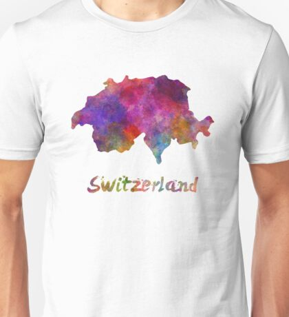 Switzerland in watercolor Unisex T-Shirt
