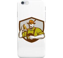 Oktoberfest Bavarian Beer Drinker Shield Retro iPhone Case/Skin
