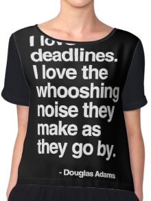 Douglas Adams Deadline Lover Chiffon Top