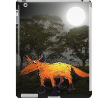 Ginger Fox in the Moonlight.Humor. iPad Case/Skin
