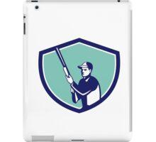 Hunter Holding Shotgun Rifle Crest Retro iPad Case/Skin
