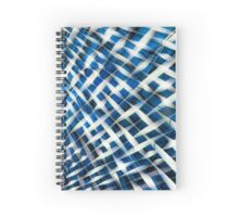 Twisted Gingham Blue Spiral Notebook
